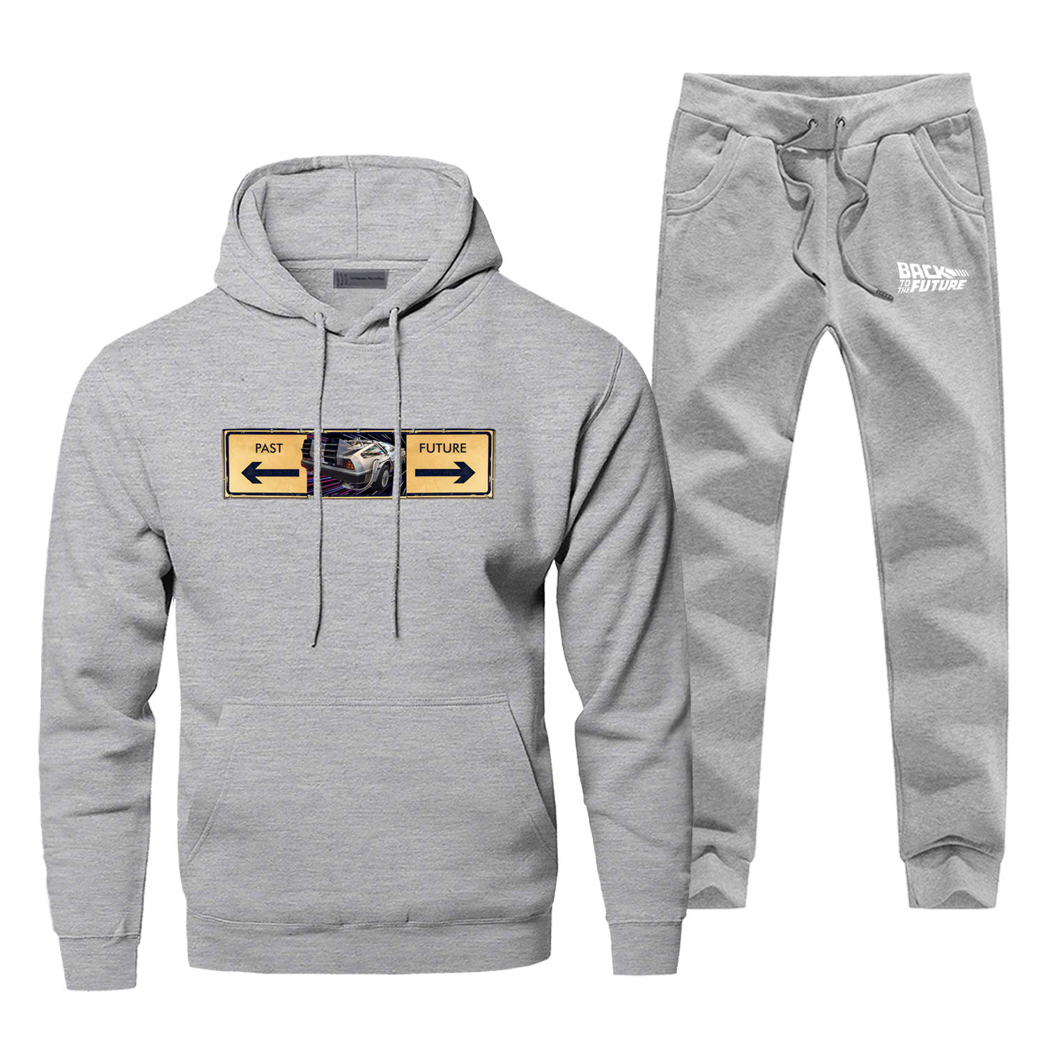 Back To The Future Men Hoodie Male Pants Set Sweatshirt Mens Hoodies Sweatshirts Sets Two Piece Pant Pullover 2Pcs Hip Hop Coat