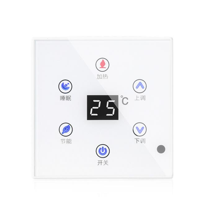 Touch Control Floor Heating Thermostat Plumbing LED Digital Tube Display Temperature Controller Three-speed Mode Adjustable