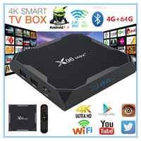 X96 Max + Smart TV BOX Android 9.0 Amlogic S905X3 Quad Core 4GB 64GB 2.4G & 5GHz Wifi BT 1000M 8K IPTV Set top box PK HK1 PIÙ H96