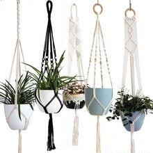 Подвеска для растений из макраме ручной работы/поднос для горшка для украшения стен/поднос для горшка для сада
