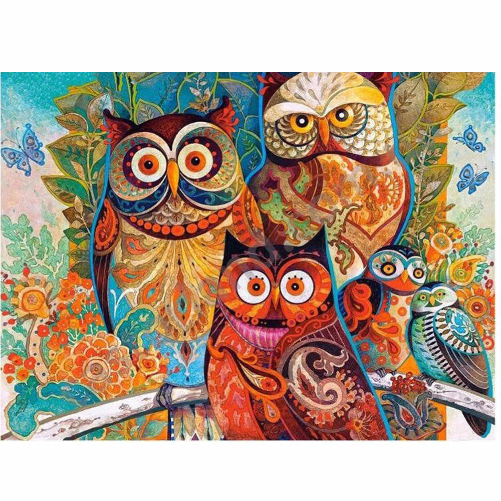 Full drill Diamond Embroidery Paintings Rhinestone Pasted 5D Cross Stitch Owl Diy Diamond Painting Mosaic Home Decoration Animal
