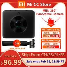 W magazynie Xiaomi Mijia 360 ° kamera panoramiczna 3.5K kamera wideo kula kamera IP67 ocena WiFi Bluetooth Mini kamera sportowa
