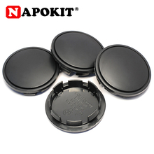 Tampas do centro da roda de carro, 4 unidades, 65mm, plástico preto, pneu, aro, tampa, para volkswagen skoda carro hubcaps