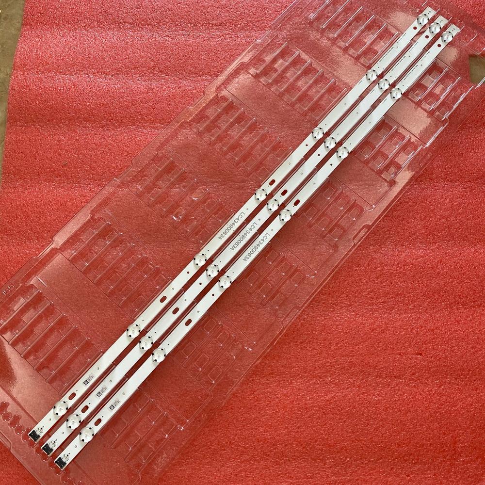 3pcs LED Backlight Strip For LG 43UK6300PLB 43UJ634V 43LJ61_FHD_L 43UJ651V 43UJ561V 43UJ701V 43UK6200 43UJ630V 43UJ635V 43LJ624V