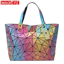MAGICYZ Fashion women Shoulder Bag Female casual handbag for Daily geometric Tot