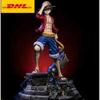 21 una pieza estatua el sombrero de paja piratas busto Luffy 1/4 Escala de longitud completa retrato sombrero niño GK figura de acción caja de juguete 54CM V415
