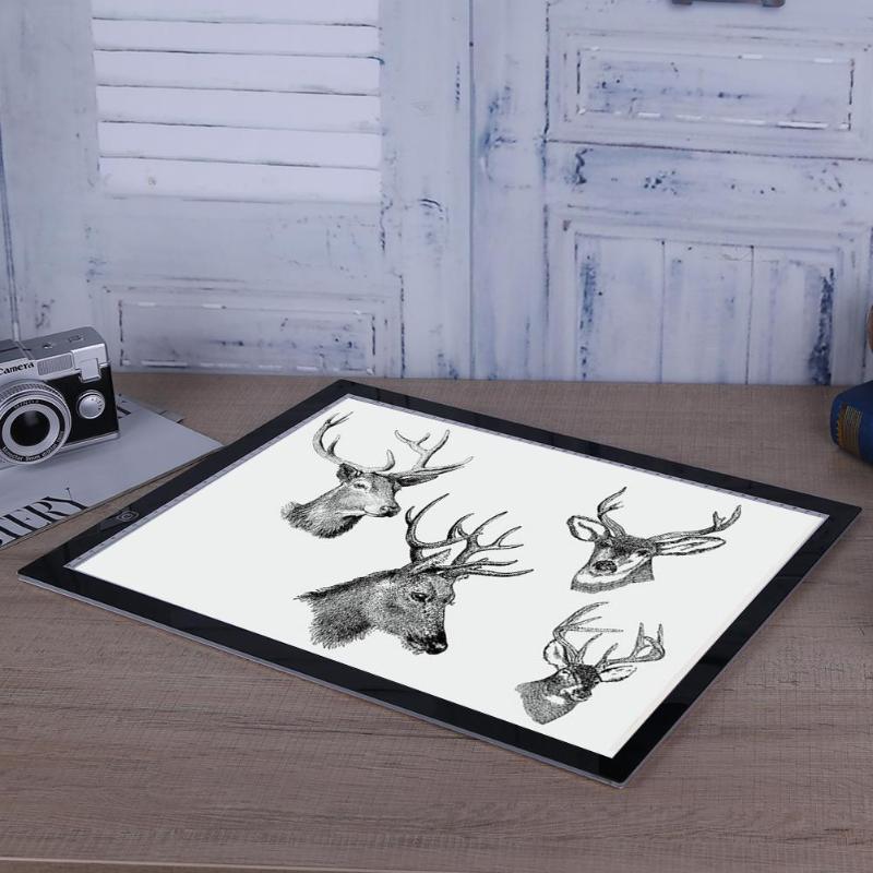 Цифровой планшет A3 A4 A5 GraphicTablet для рисования знак дисплей Панель светящийся трафарет Графический художник тонкая доска для рисования свет