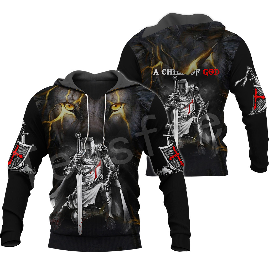 Tessffel Knights Templar Armor Pullover NewFashion Harajuku Tracksuit 3DfullPrint Zipper/Hoodies/Sweatshirt/Jacket/Men/Women S-1