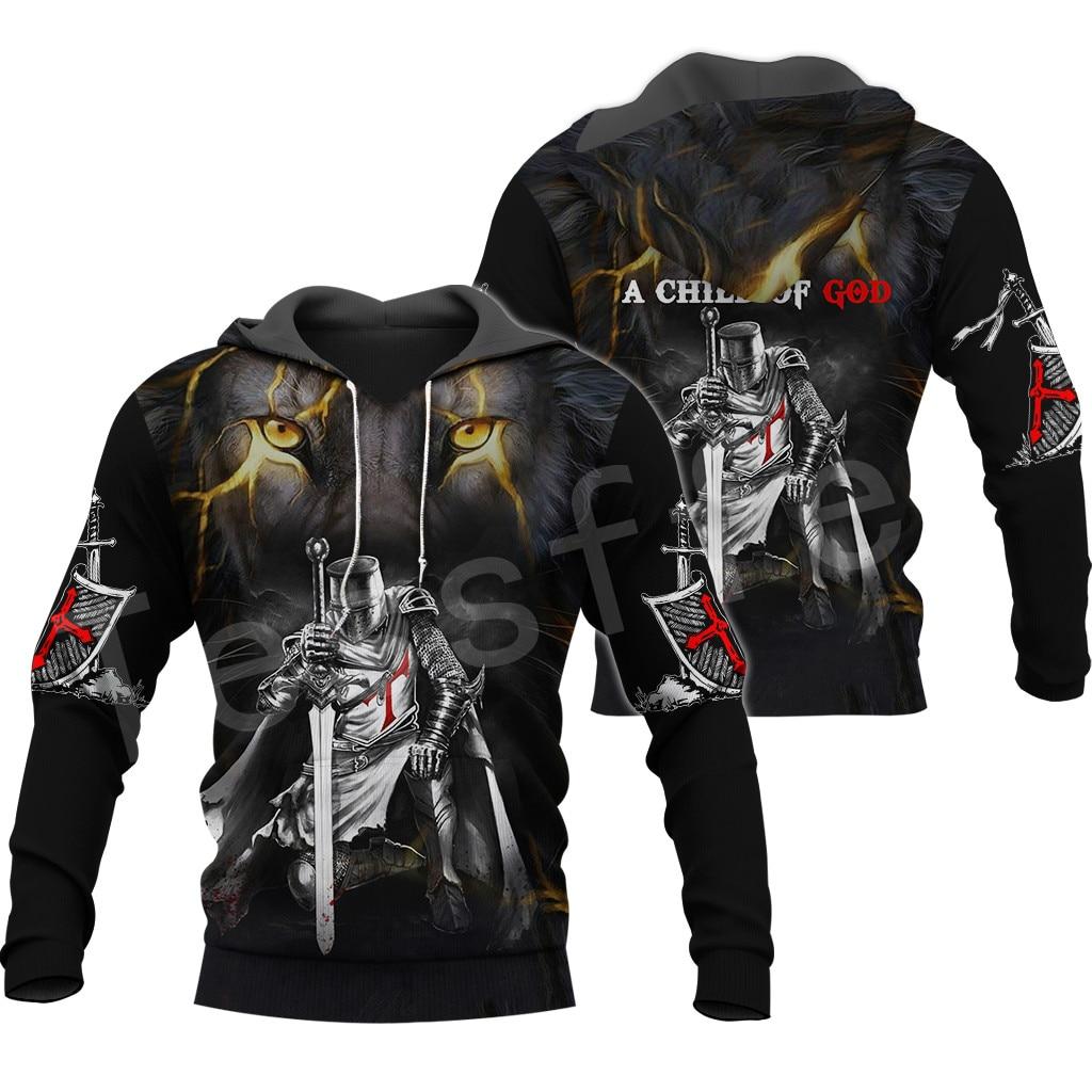 Tessffel Knights Templar Armor Pullover NewFashion Harajuku Tracksuit 3DfullPrint Zipper/Hoodies/Sweatshirt/Jacket/Men/Women S-1