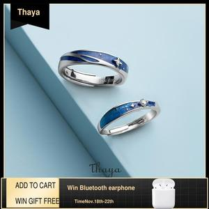 Image 1 - Thaya מקורי עיצוב s925 סטרלינג כסף ערפילית טבעות זוג אופנה טבעות לנשים אלגנטי תכשיטים