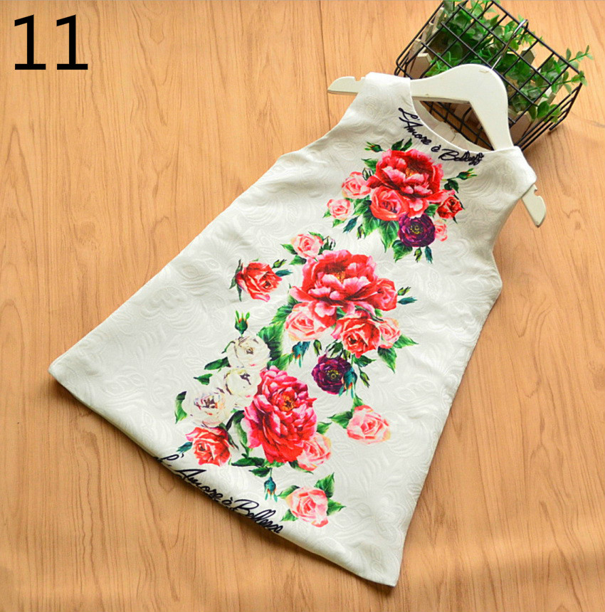 143-22-Girls Flower Princess Sundress