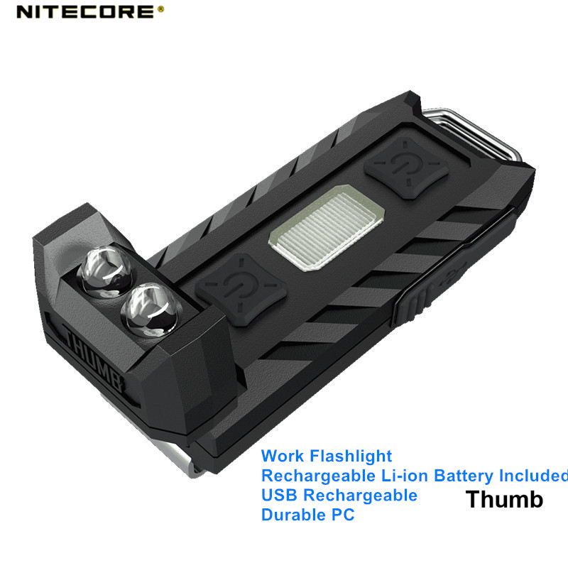 Nitecore Thumb Tube Rechargeable Li-ion Battery USB Rechargeable Durable PC Mini Outdoor Work Flashlight For Searching Camping