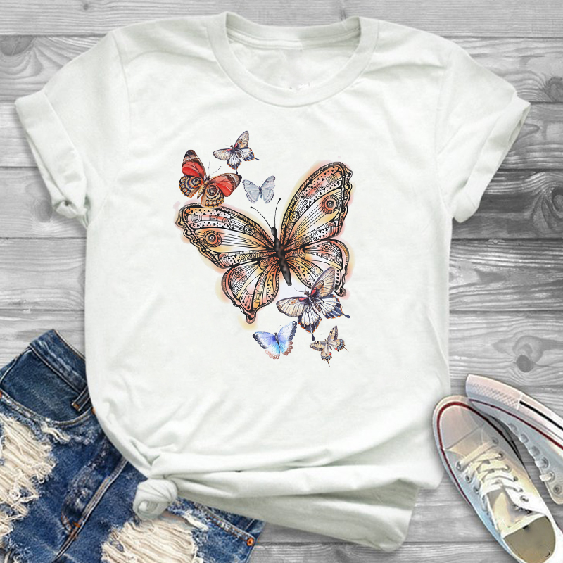 Sunflower Painting Flowers Womens Female Graphic T Shirt T-Shirt Streetwear Tee Shirt Tees T-shirts Women Fashion Clothing