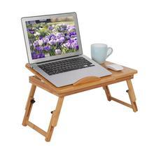 1 шт., портативная бамбуковая компьютерная настольная полка, полка для общежития, кровать, стол для чтения книг, поднос для кровати, столик для компьютера, ноутбука, книжный стол