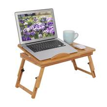1Pc Portable Bamboo Computer Desk Rack Shelf Dormitory Bed Lap Desk Book Reading Tray Bed Table For Computer Notebook Book Table(Hong Kong,China)