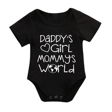 DERMSPE High Quality Baby Black Toddler rompers Round Neck Short Sleeve Boy Girl Jumpsuit Newborn Child Soft One Piece Bodysuit(China)