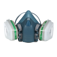 Противогаз для лица, респиратор с 2 шт. фильтром, хлопковой крышкой, краской, распылением, маска, персональное защитное оборудование