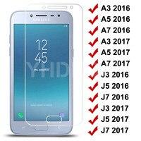 9H Gehärtetem Glas auf Für Samsung Galaxy S7 A3 A5 A7 J3 J5 J7 2016 2017 J2 J4 J7 core J5 Prime Glas