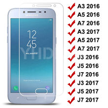 9H Tempered Glass on For Samsung Galaxy S7 A3 A5 A7 J3 J5 J7 2016 2017 J2 J4 J7 Core J5 Prime Screen Protector Protective Glass