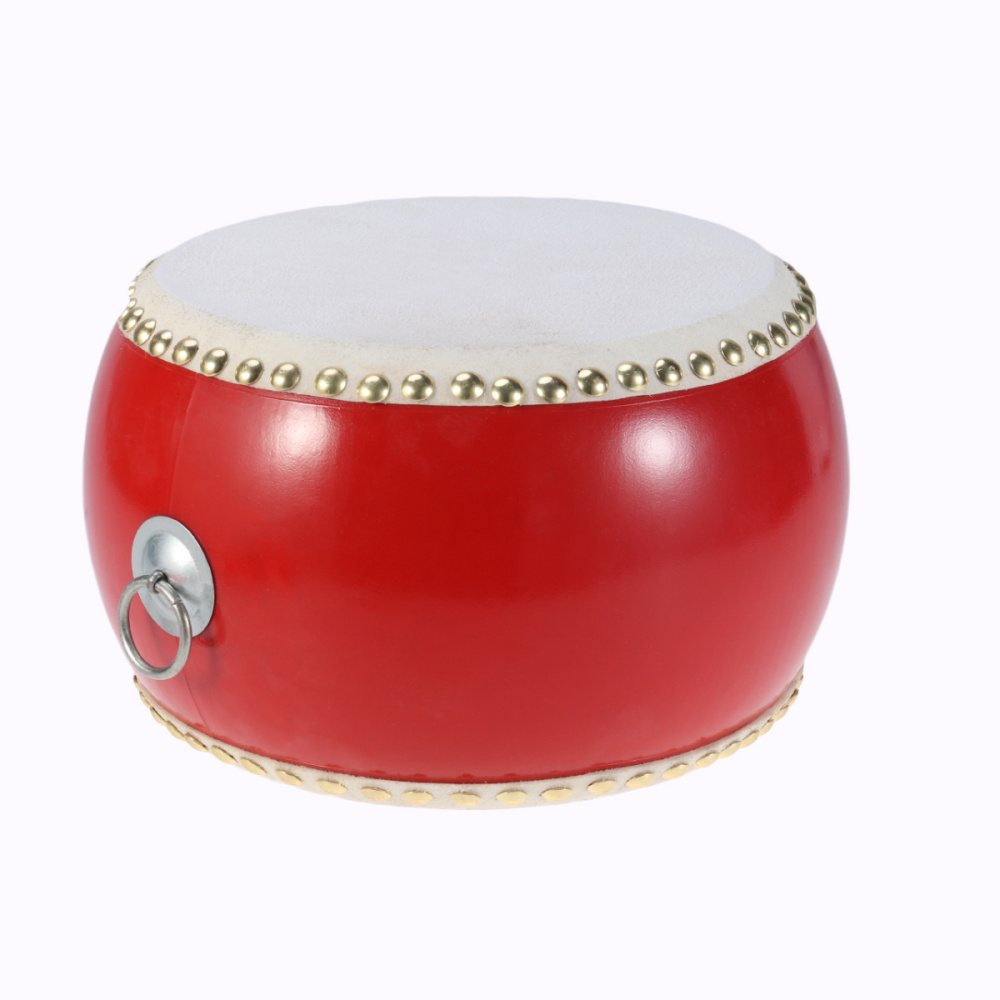 Chinese Ancient Drum Musical Percussion Instruments Cowhide Waist Drum Children Toy with Sticks Straps