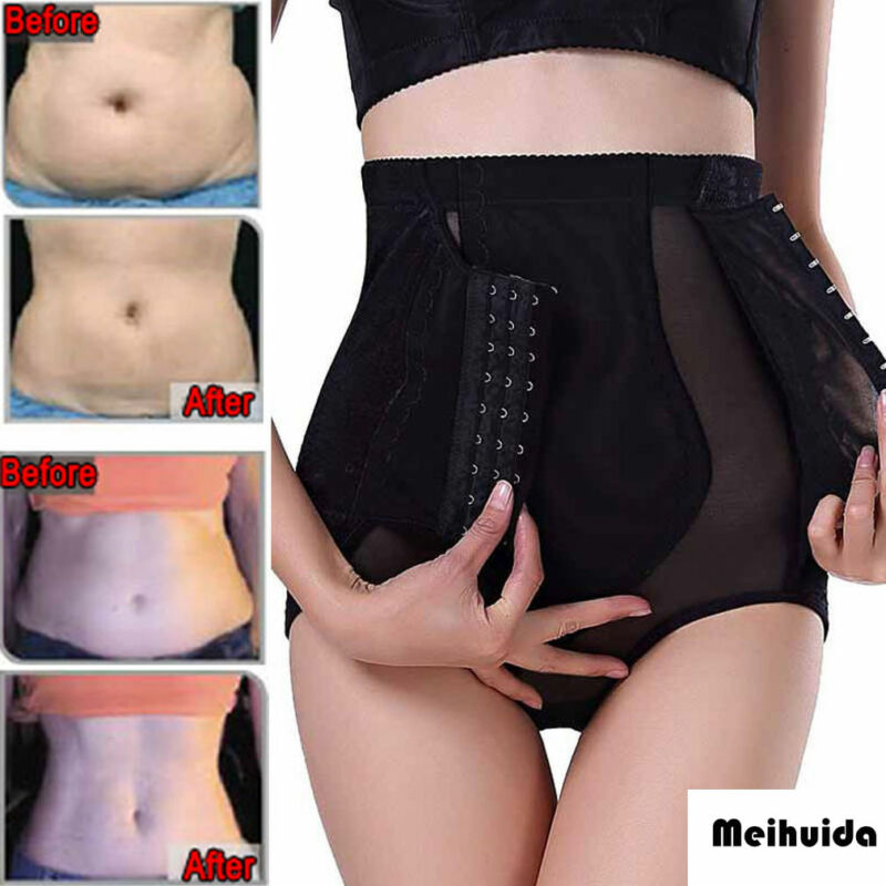 High Waist Waist Trainer M-2XL Firm Tummy Control Body Shaper Seamless Underwear Thong Butt Lifter Plus Size Sexy Shapewear XXL