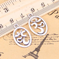 24pcs Charms Yoga OM 22x14mm Antique Pendants,Vintage Tibetan Silver Jewelry,DIY for bracelet necklace