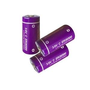 Image 1 - 3 個 3.6 v 9000mah er 26500 電池小学校 c Li SOCl2 batteria ER26500 貯蔵寿命 10 年優れた LR14 r14P 1.5 v c バッテリー