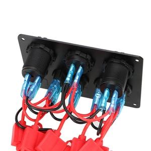 Image 5 - 12V Socket Combination Digital Voltmeter Dual USB Port Waterproof For Car And Marine LED Rocker Switch Panel