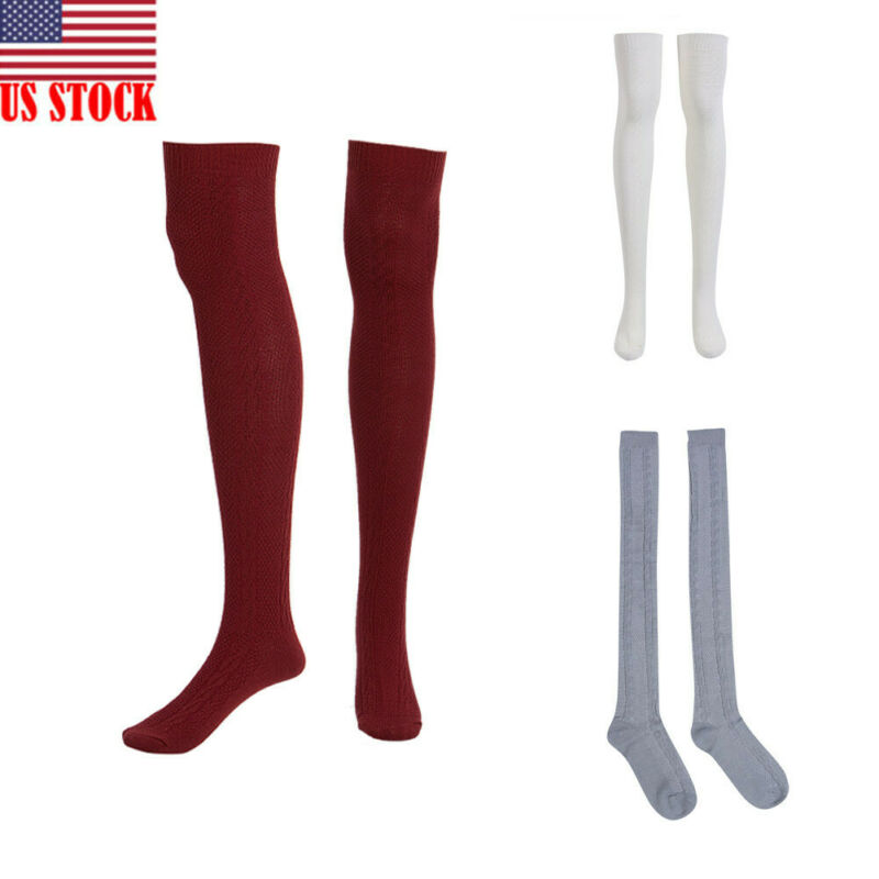 Hirigin Winter Women <font><b>Socks</b></font> Leg Warmer Adult Leisure Long Thigh <font><b>High</b></font> For Women Extra Long Boot Over The <font><b>Knee</b></font> <font><b>Knit</b></font> Dance <font><b>Sock</b></font> image