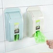 Creative wall-mounted household garbage bag plastic storage rack storage box kitchen bedroom bathroom garbage bag storage box