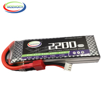 MOSEWORTH 2S RC LiPo батарея 7 4 V 2200mAh 30C для RC вертолета автомобиля лодки квадрокоптера RC игрушки литий-полимерные батареи 2S AKKU