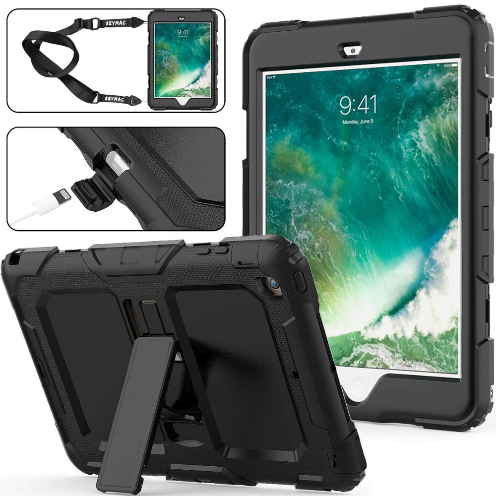 For IPad Mini Case Heavy Duty Kid PC Rugged Hybrid Shockproof Stand Shell Cover For Apple IPad Mini 1 2 3 Cases Shoulder Strap