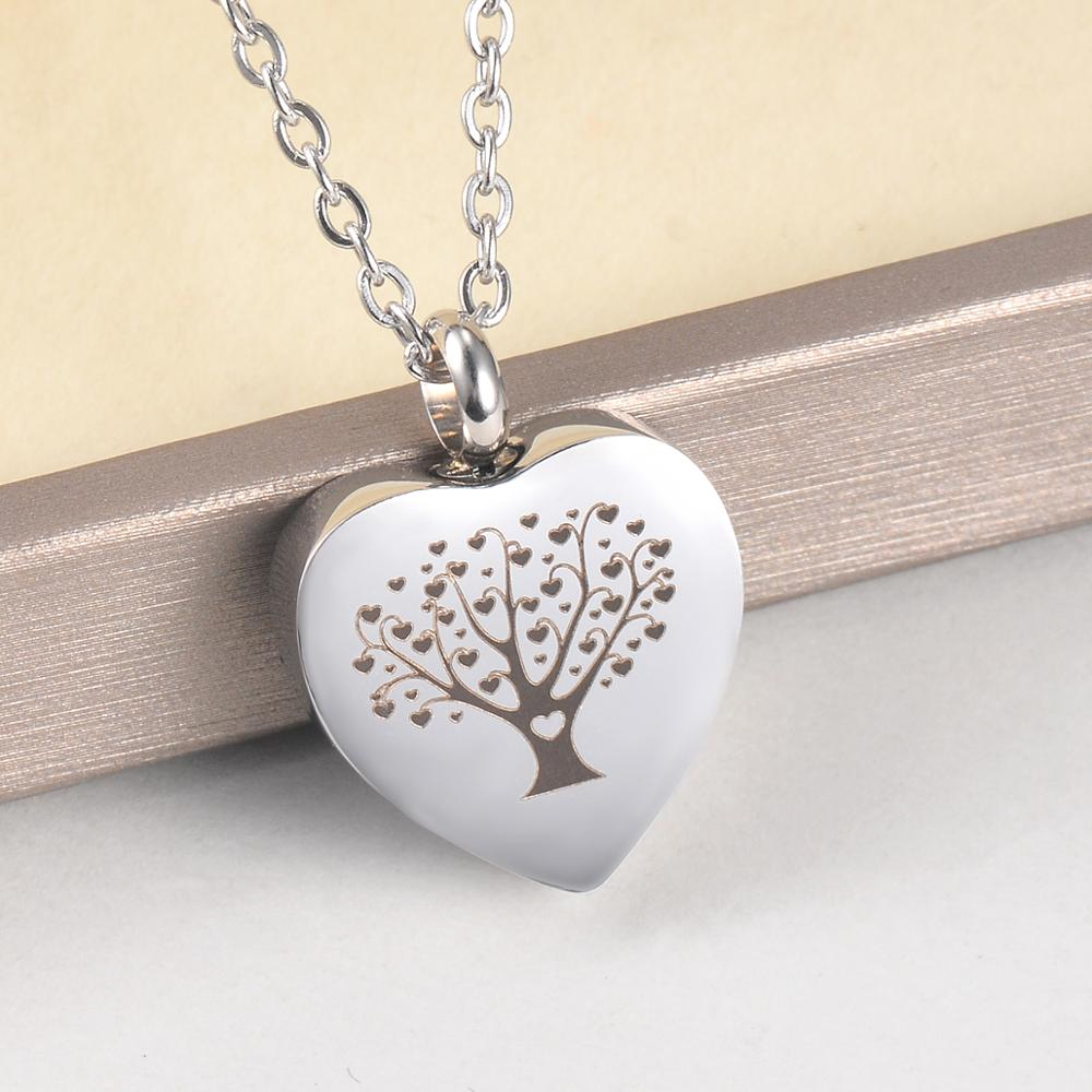 Cremation Jewelry Crystal Tree of Life Urn Necklace for Ashes Keepsake Holder Memorial Jewelry Urn Jewelry
