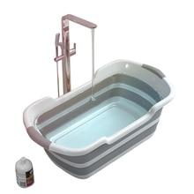 Силиконовая складная детская Ванна Нескользящая ножная ванночка складная детская переносная Ванна для собак кошек Ванна Ванная комната корзина для белья