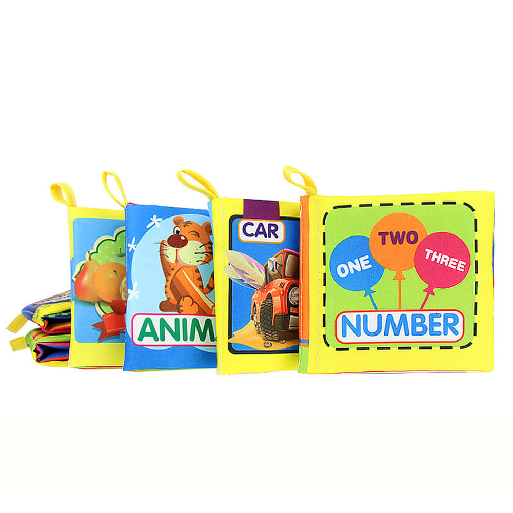 HIINST Cloth Baby Book Intelligence Development Educational Toy Soft Cloth Learning Cognize Books For 0-24Months Kids Quiet Book