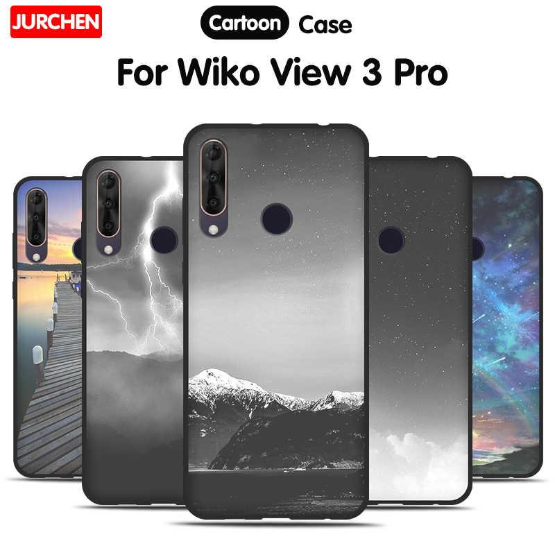 JURCHEN Funda For Wiko View 3 Pro Case TPU Cartoom Silicone Soft ...