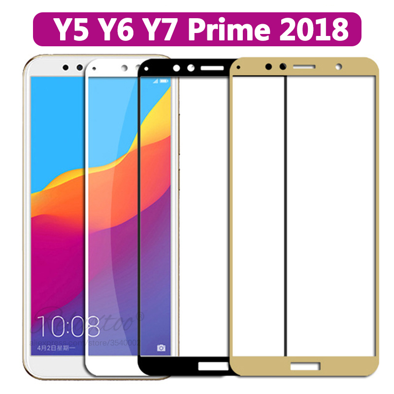 Protective Tempered Glass On The For Huawei Y5 Y6 Y7 Prime 2018 Glass Huawey Y 5 6 7 Y52018 Y72018 Y82018 Screen Protector Film