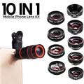 10 в 1, набор объективов для iPhone X XS 11 6 7 8