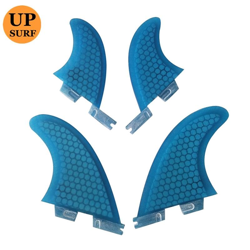 Ailettes de Surf 4 pièces FCS2 ailettes G5 avec accessoires de surf en fibre de verre nid d'abeille GL fcs2 quad - 2