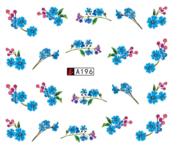 Europe And America Hot Selling New Style Small Flower Watermark Nail Sticker Flower Nail Sticker