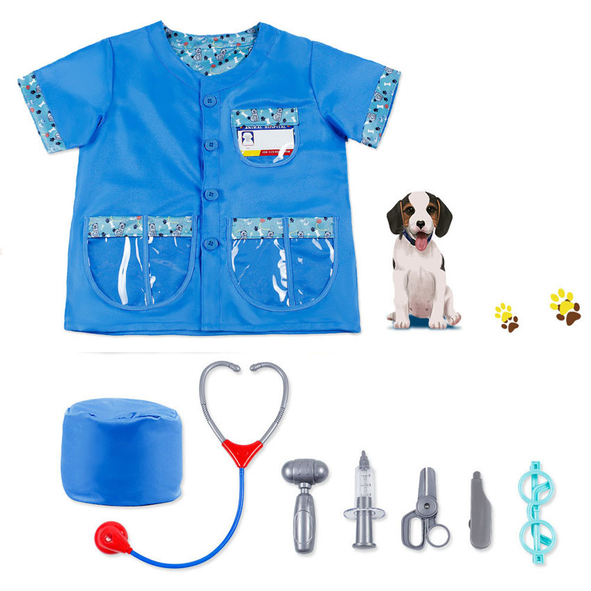 Halloween Costume For Children Fancy Pet Doctor Veterinary Cosplay Clothes Boys Party Carnival Masquerade Costumes Accessories