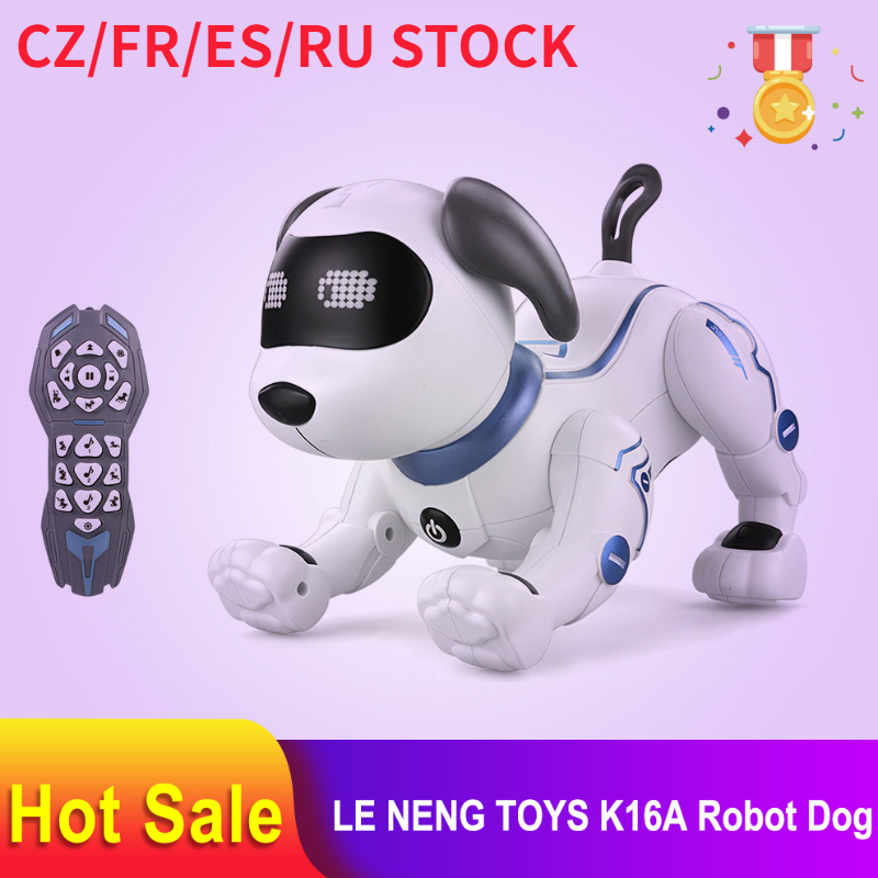 LE NENG TOYS K16A Electronic Animal Pets RC Robot Dog Voice Remote Control Toys Music Song Toy for Kids RC Toys Birthday Gift 1