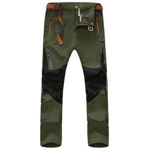 Image 2 - הליכה דקים מכנסיים גברים קיץ חיצוני עמיד למים מהיר יבש דיג צפצף טקטי כיס מכנסיים קמפינג הרי טרקים ציד
