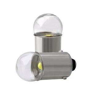 Image 3 - 10 個BA9S led電球 3030 ガラスT4W高輝度白色 12 12v読書ドームドア計器ライトナンバープレートライトランプ電球