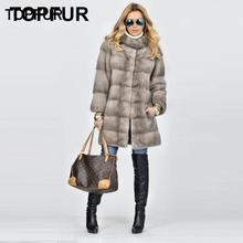 TOPFUR Genuine Leather Jacket Women Winter Coat Women Gray Jacket With Fur Collar Real Mink Fur Coat Women Real Fur Coat Outwear