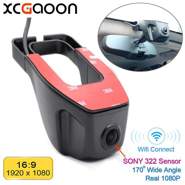 XCGaoon Wifi 170 תואר רכב DVR מקליט וידאו מצלמת וידאו דאש מצלמה 1080P לילה גרסת Novatek 96655 להשתמש SONY 322 חיישן