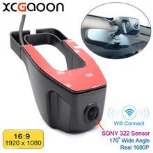 XCGaoon Wifi 170 derece araba dvrı Video kaydedici kamera Dash kamera 1080P gece görüş Novatek 96655 kullanım SONY 322 sensörü