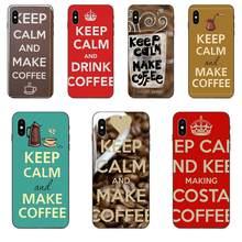Mantenha a calma e faça café tpu capa macia para galaxy a10s a20s a2 a30s a40s a50s a70s a90 5g m10 m30s m40 nota 10 mais