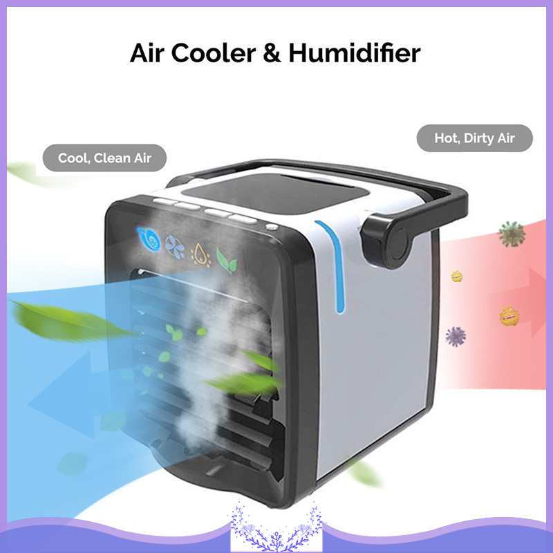 Mini Desktop Cold Air Humidifier Arctic Air Conditioning Unit Fan Low Noise Home Cooler Cold Water Cooling System