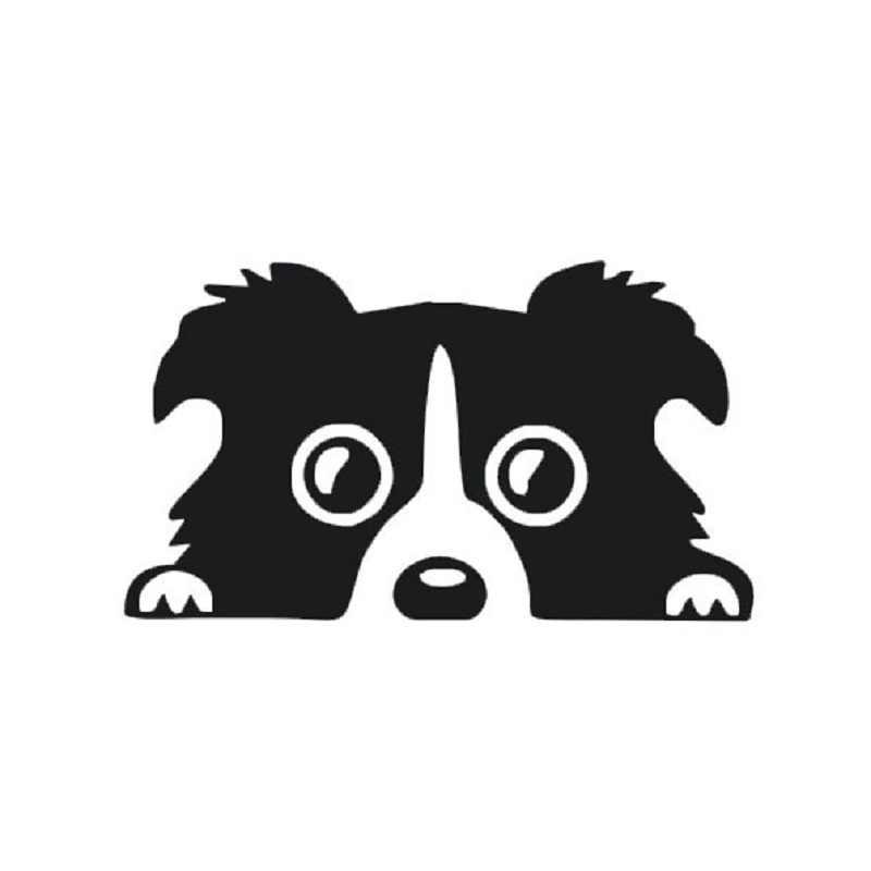 Забавные наклейки для автомобиля Peeking Border Collie Dog виниловые наклейки декор для грузовиков корпус автомобильной двери и мотоциклиста